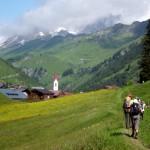 Lech-Warth, Beginn der Etappe nach Steeg